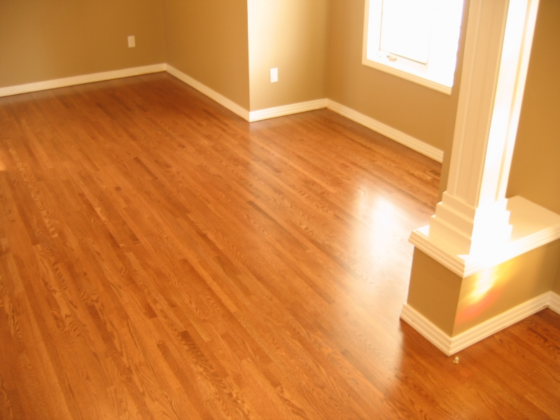 Site Finished Red Oak Floor With Custom Stain